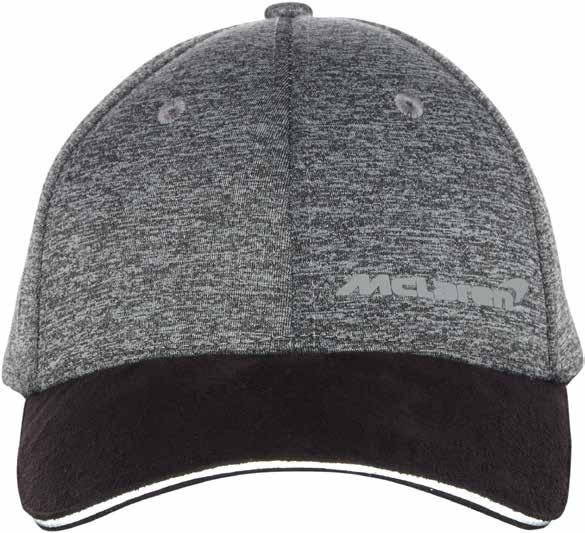 McLaren Cap Fashioned from luxurious soft grey marl material and finished with a black micro-suede peak, this baseball-style cap looks and feels both modern and classic.
