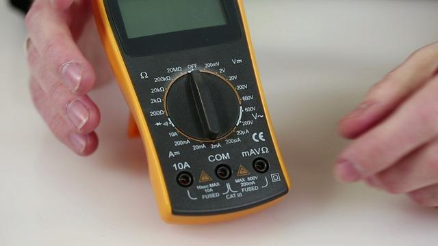 This particular model is a manual-range digital multimeter.
