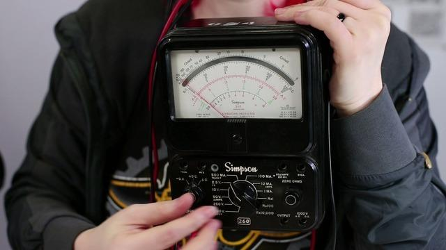 Ladyada: Actually, this meter only measures current, so we call it an ammeter. It s the ancestor to the modern multimeter. Collin: No doubt - and when was that made?