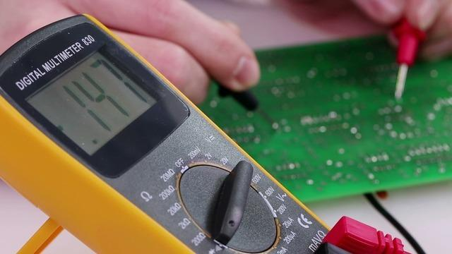 If the multimeter detects conductivity between those two