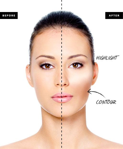 5) Apply mineral foundation to your forehead using the same technique as described in the step above. NOTE: for better coverage repeat these steps until you have obtained the result you wish.
