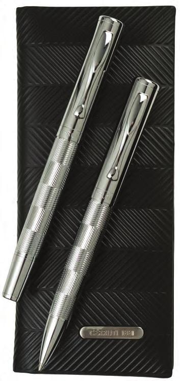 Zoom pen set Black and chrome