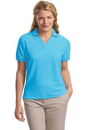 L448 Port Authority - Ladies 100% Pima Cotton Polo. L448 Few can resist the delightfully soft hand and lightweight honeycomb knit texture of our 100% pima cotton polo.