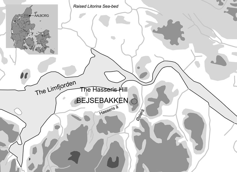 Fig. 1. The country surrounding Bejsebakken. during the following decades. In 1964, a child s grave from the Late Roman Iron Age was found near the churchyard of Sdr. Kirkegård.