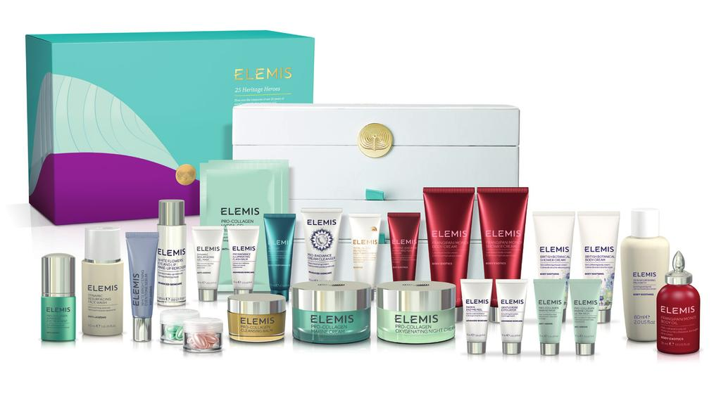 The Gift of Elemis: 25 Heritage Heroes Dive into the treasures of our 25-years of excellence with this generous and transformative collection for face and body. 225.00 Worth 425.00 Save 200!