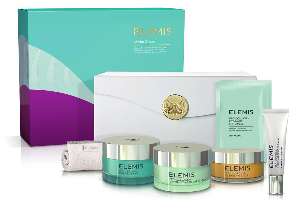 The Gift of Elemis: marine dream Discover the extraordinary, clinically proven effects of our world famous Pro- Collagen collection, infused with the power of the sea. 199.00 Worth 371.40
