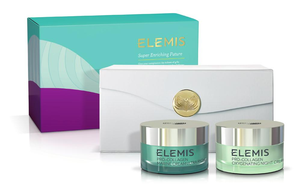 The Gift of Elemis: Super Enriching Future Give your complexion the richest of gifts with this power packed Ultra-Rich Pro-Collagen Day and