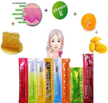 Information COLLAGEN JELLY STICKS (Secrets of Japanese Health and Beauty) Collagen Jelly with Royal Jelly extract is an outstanding combination for glowing skin.