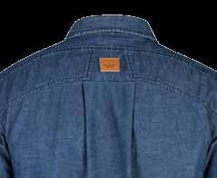 K14280 / Tradies Denim Shirt FABRIC Cotton Twill 200GSM SIZE