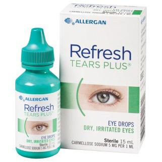 Refresh Contacts Refresh Tears Plus Active ingredients: Hypromellose (lubricant) Carboxymethylcellulose (lubricant) Carmellose 980 (lubricant) All active ingredients are safe in all patient groups