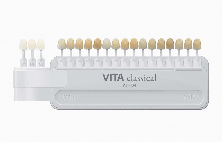 VITA classical A1-D4 shade guide with VITA Bleached Shades The original is being expanded Bleached Shades now available for VITA classical VITA Bleached Shades offer the dentist a practical tool for