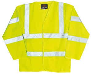 HV05 proforce EN471 Class 2 Waistcoat Velcro fastening front 120g knitted reflective fabric Sizes: M L XL XXL XXXL High visibility garments meet BS EN471: 1994, and in some cases also meet the