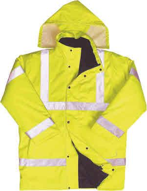 Class 3 Breathable Bomber Jacket 300D polyester/ PU shell with fully taped waterproof seams & storm fastening Two