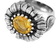 Q20-9049Q-CUSTOM Flower Power Ring with