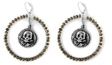 Coin/ Skull Coin Earrings w/ Hook