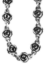 QUEEN Q55-5007 Peace Sign Chain Necklace - 24' (NKCH12-24') Q55-5029 Rose Motif Chain Necklace w/ Large Rose Clasp -