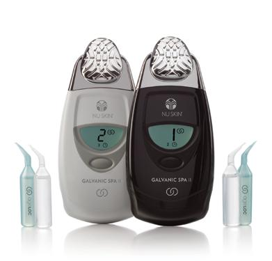 Welcome to the luxury and convenience of youthful spa benefits at home The specially designed ageloc Edition Nu Skin Galvanic Spa System II, together with the ageloc Transformation daily skin care