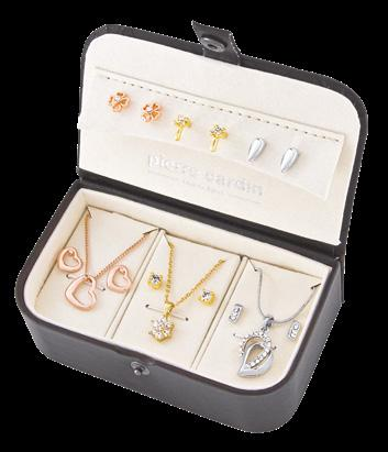 24 Jewellery for her 1 3 2 1 PIERRE CARDIN Set of 9 pieces, 3 colours,