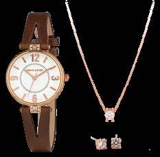 Jewellery & watch sets for her 25 PIERRE CARDIN Watch with leather