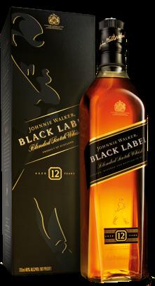 70 L 2 3 JOHNNIE WALKER Blended Scotch Whisky Black Label 0.