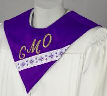 Have fun, be creative and you will enjoy your new robes and stoles for many years.
