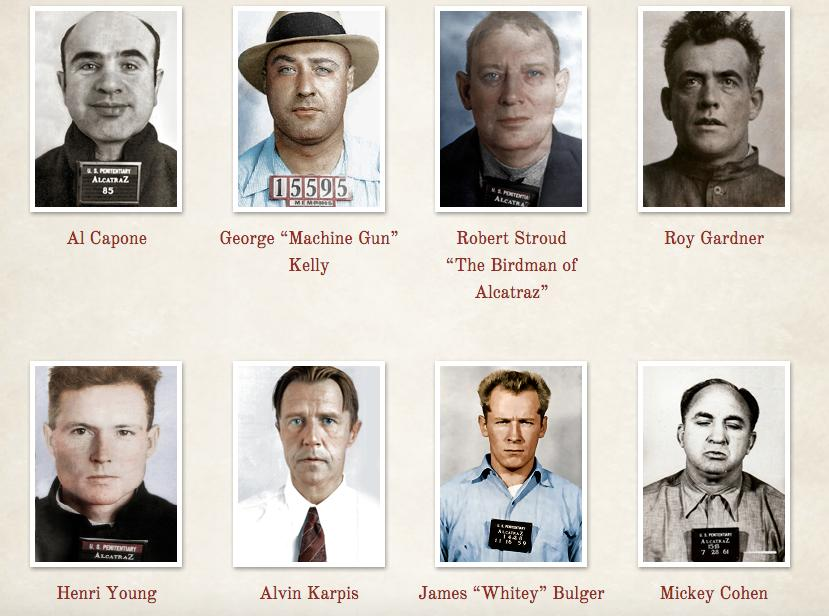 Who were the most famous inmates to reside on Alcatraz?