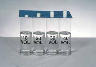 33 Utilizing Alka-Seltzer, another prop has been devised to indicate how peroxide decomposes. The Alka-Seltzer are stacked into piles.