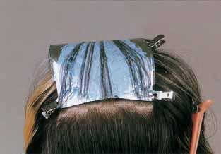 (see #12) The hair left natural between highlightened sections must be greater than the hair being lightened.