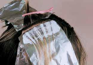 The stagger technique is defined as staggering the bleach application in the packet and not stopping the bleach at the first sign of previously