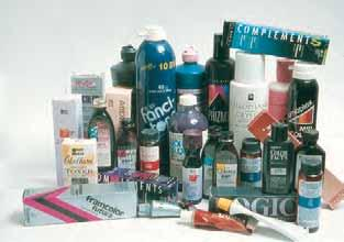 1 There are many different types of haircoloring products available.