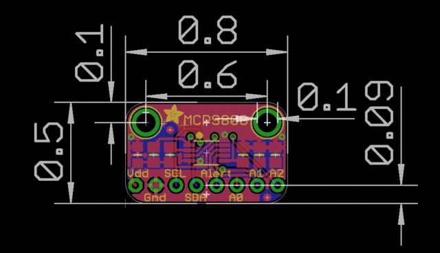 Downloads Datasheets & Files MCP9808 datasheet EagleCAD PCB files on GitHub Fritzing object in Adafruit