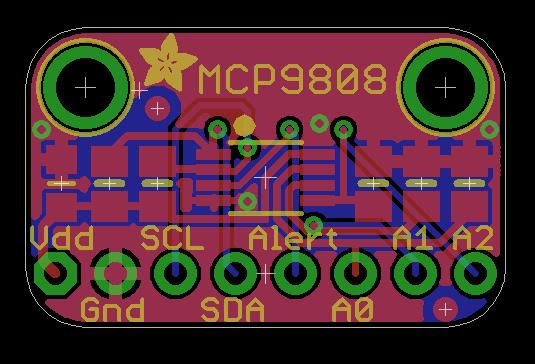 Pinouts The MCP9808 is a very straight-forward sensor, lets go thru all the pins so you can understand what you need to connect to get started Power Pins VDD - This is the positive power and logic