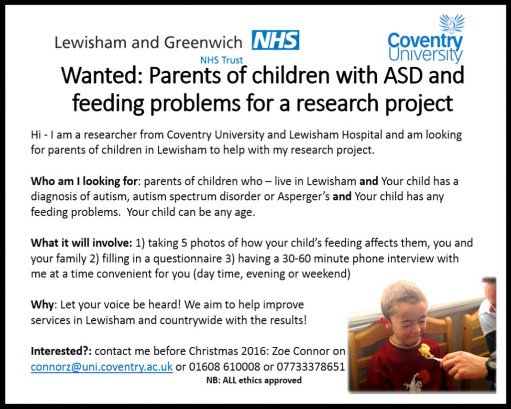 This is something that affects many of our families so please do get in touch with Zoe if you would like to be involved.