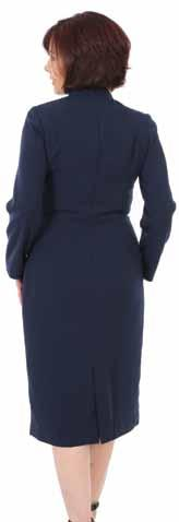 Judith Model is 5ft 4 Three Quarter Length Clergy Dress is perfect as a modest length and great if you prefer your arms completely covered.