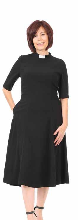 The Clergy Tea Dress is a great midcalf length dress with short sleeves.