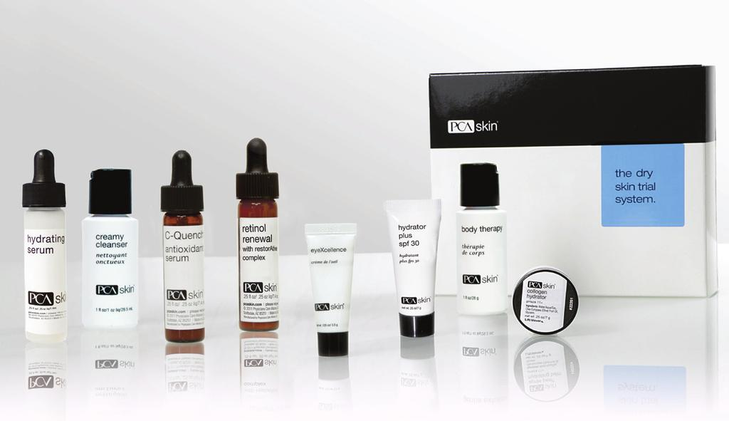 The Normal Skin Trial System This system offers a variety of products for patients with normal skin.