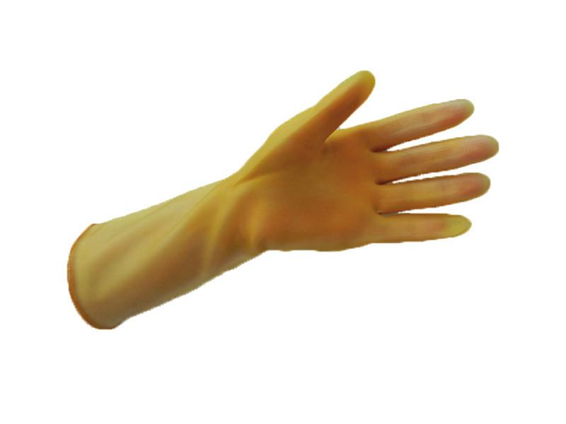 GLOVES, REUSABLE AMBER LATEX GLOVES Household style embossed grip, 0.018 thickness. 7 G-407 2.90 29.00 8 G-408 2.90 29.00 9 G-409 2.90 29.00 10 G-410 2.90 29.00 11 G-411 2.