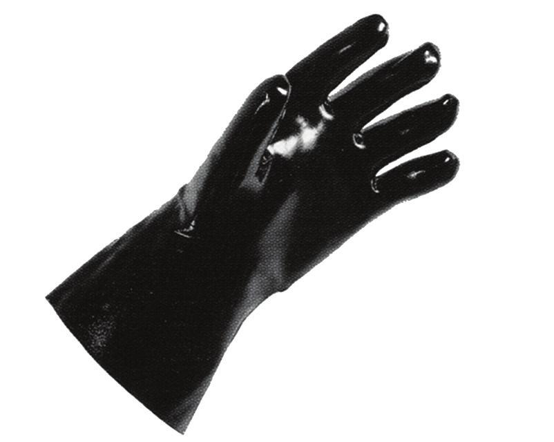 GLOVES, REUSABLE GLOVES, NEOPRENE Black, heavy-weight wrist length gloves are resistant to