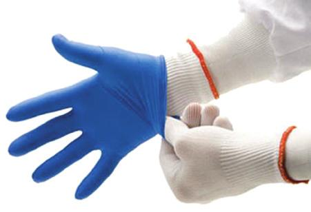 Smooth glove has an attached PVC coated sleeve featuring 31 of overall coverage