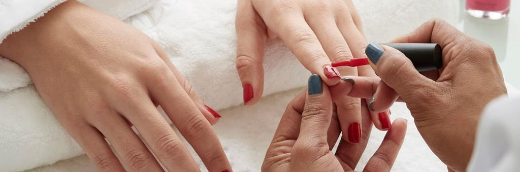 Nail shaping/cuticle work/exfoliation/massage/lacquer application/removal of calloused skin.