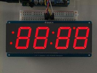 "2"" 4-Digit 7-Segment Display w/i2c Backpack - Red PRODUCT ID: 1270 What's better than a single LED? Lots of LEDs!"