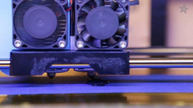Ninjaflex also has great adhesion to blue painters tape as well as acrylic