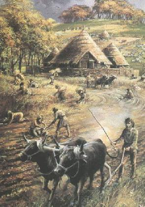 New Stone Age. 4000BC. First farmers arrived by dugout canoe. Mesopotamia (Iran and Iraq) is where farming began!