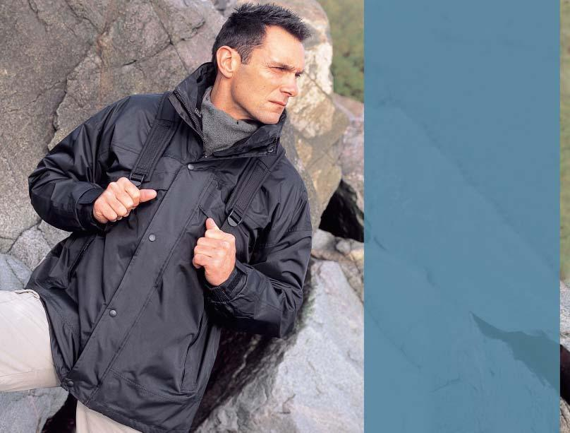 HEAVY-WEIGHT R68 3-IN-1 ZIP & CLIP JACKET 1,600mm R68 Outer Jacket Outer: 200gsm Polyester with PVC coating Lining: Upper body Polyester Mesh, Lower body & sleeves 190T Nylon Taffeta