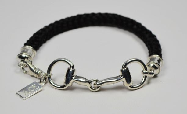 Snaffle Bit Bracelet $160 Adorable, fully articulated sterling silver snaffle bit is 1 ¾ long.