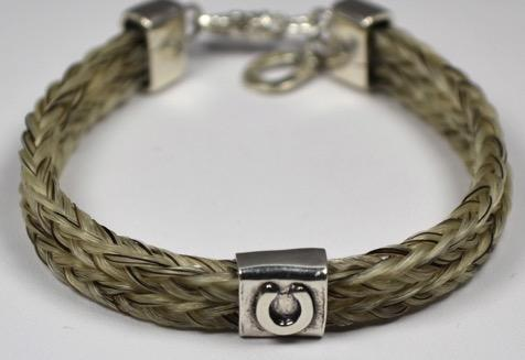 Double Strand Artisan Horseshoe Bracelet $175 Double strand square braid