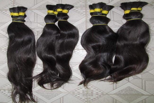 5. Indian Virgin Unprocessed Raw Human hair We offer a very high Quality Indian Virgin Unprocessed Raw Human hair. All the hair is in one direction, i.e. all the roots will be at one end of the processed bundle.