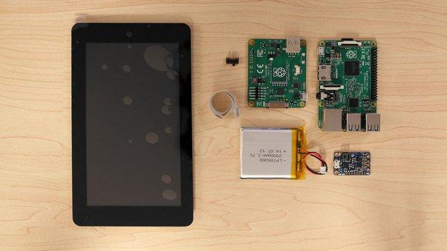 "Overview Portable Raspberry Pi Tablet In this project, we'll show you how to build a portable Raspberry Pi 2, using a 7"" capacitive multitouch display, an Adafruit PowerBoost 1000C and a 2500mAh"