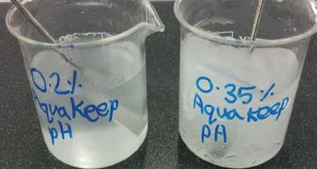 How to Add Aqua Keep 10SH-NFC can be added directly to cold water. Upon addition, it immediately starts to swell and thicken the water.