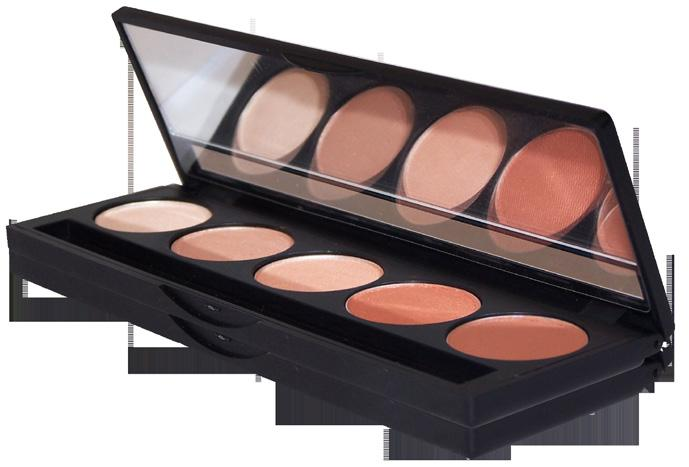 DELUXE COMPACTS PRESSED MINERAL 5-SHADE EYESHADOW COMPACT EYE-5SHD-SM-(COLOR#)-M DELUXE COMPACTS MINERAL MINI DELUXE